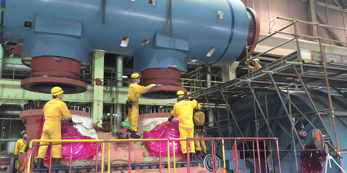 火力発電所のメンテナンス